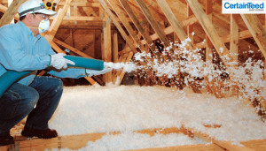 Blown-In Fiberglass Insulation and Cellulose 2